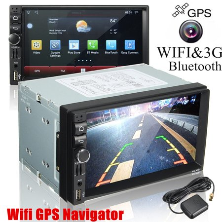 Wifi 1080P 4K Car GPS Navigator +Rearview Cam 7