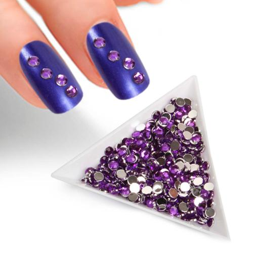 BMC 2mm Lavender Enamel Resin 3D DIY Nail Polish Art Decorative Rhinestone Studs