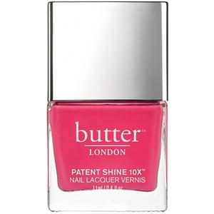 Butter London for Women Patent Shine 10X Nail Lacquer, Flusher Blusher, 0.4 oz