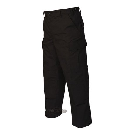Gen-1 Police BDU Trousers Black 65/35 Poly, Cotton Rip-Stop, SM RG ()