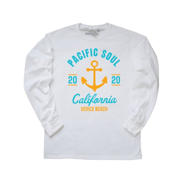 Pacific Soul California Venice Beach 2020 with Anchor Long Sleeve T-Shirt