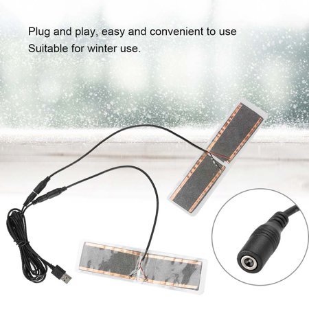 HURRISE 1 Pair 5V USB Electric Heating Element Insoles Film Heater Foot Warming Pad, USB Heating Pad,USB Heating Film - image 4 of 8