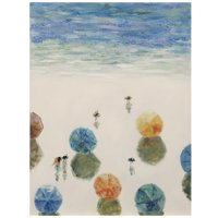 Beach Umbrella Crew - 30in x 40in Hand Painted Coastal Textured Stretched Canvas - Ready to Hang