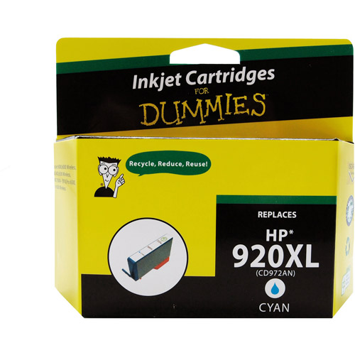 For Dummies Remanufactured Hewlett Packard 920XL Cyan Inkjet Cartridge