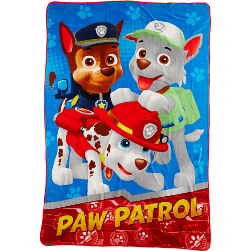 Paw Patrol Twin Blanket, Blue
