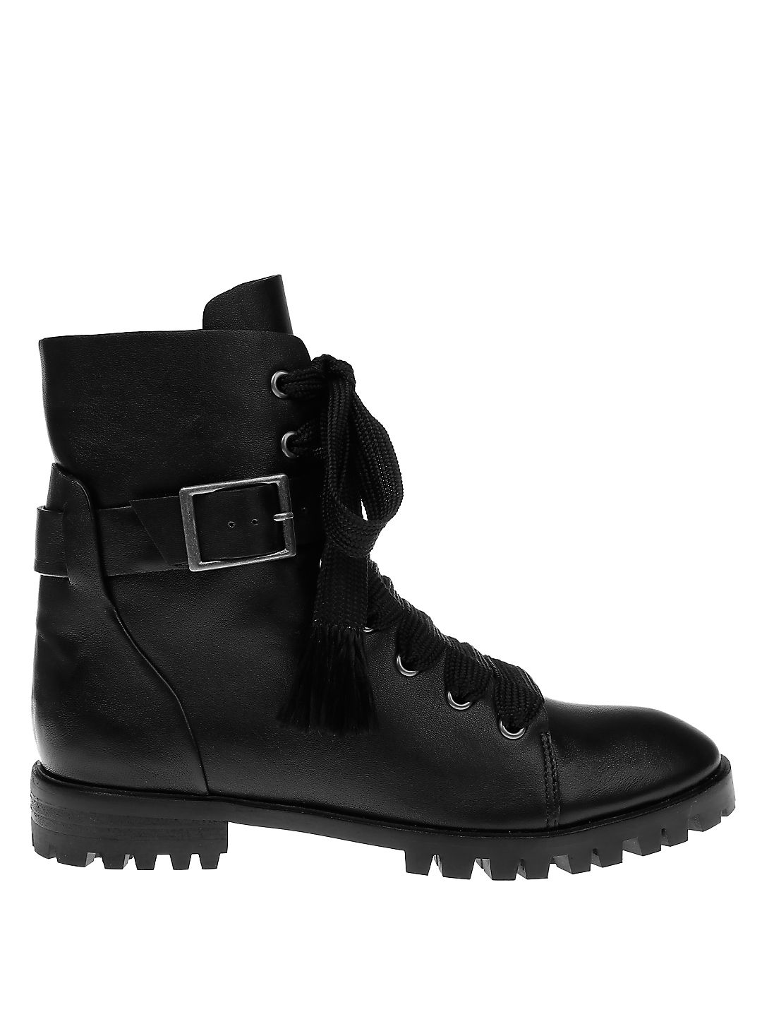 Celine Buckle Leather Booties