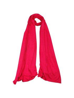 Hijaz Plain Ruby Red Lightweight Rectangle Women's Scarf Jersey Hijab