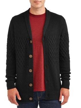 George Men's and Big Men's Cardigan Knit Sweater, up to Size 3XL