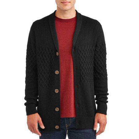 George Men's and Big Men's Cardigan Knit Sweater, up to Size 3XL ()