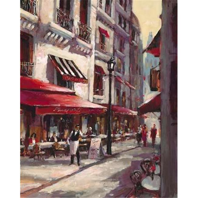 Tangletown Fine Art Cafe Marseille by Brent Heighton Poster Frame - 31 x 25 x 1.5 in.