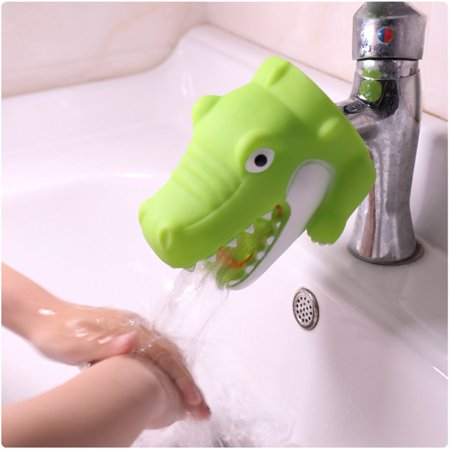 - BEAD BEE Kitchen Bathroom Duck Faucet Extender Sink Handle Extender Child Washing Green