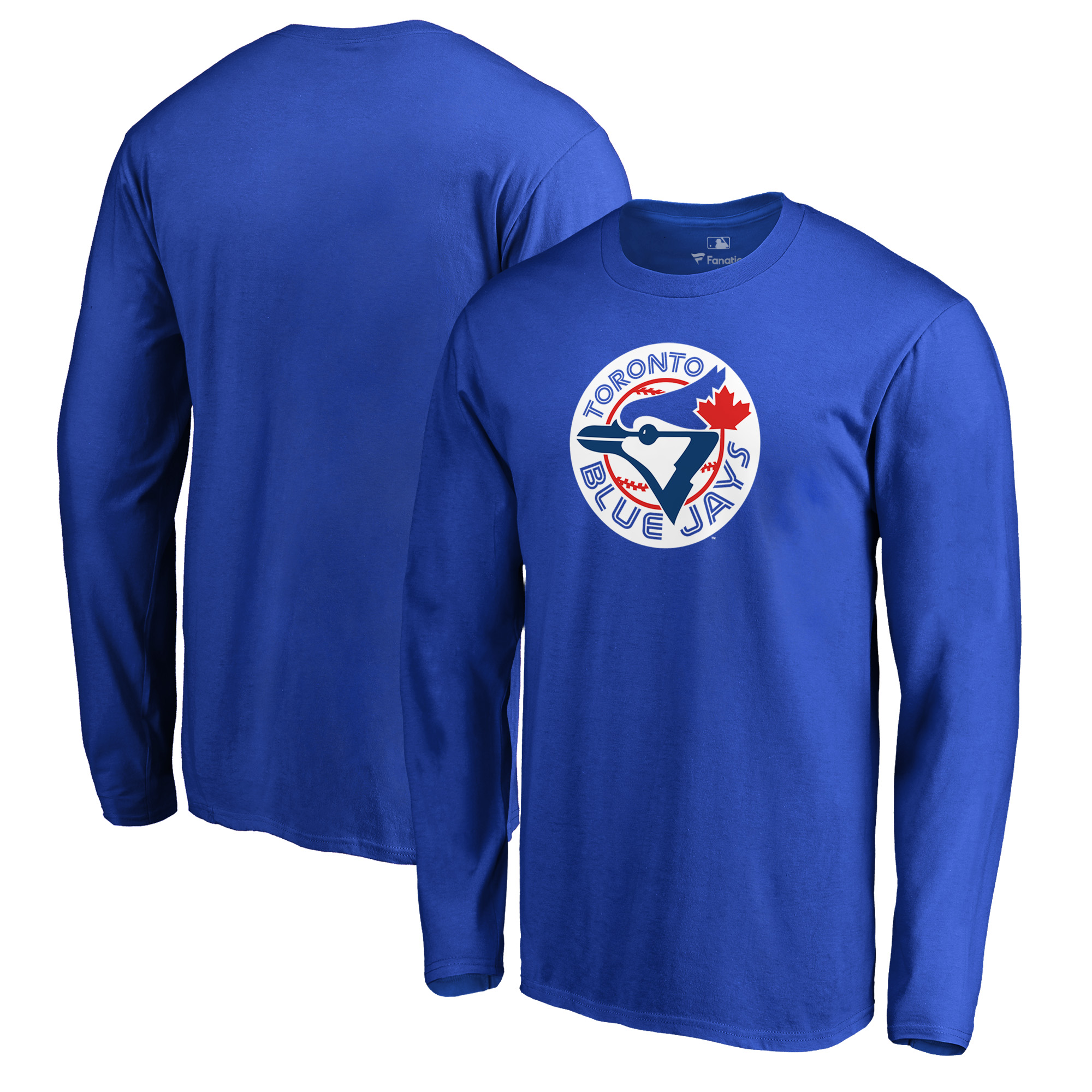 Toronto Blue Jays Fanatics Branded Cooperstown Collection Huntington Long Sleeve T-Shirt - Royal