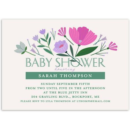 Floral Burst Baby Invitation ()