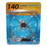 MassCool BLD-14025S1L 140mm 3-pin mainboard and 4-pin power supply LED Case Fan Blue