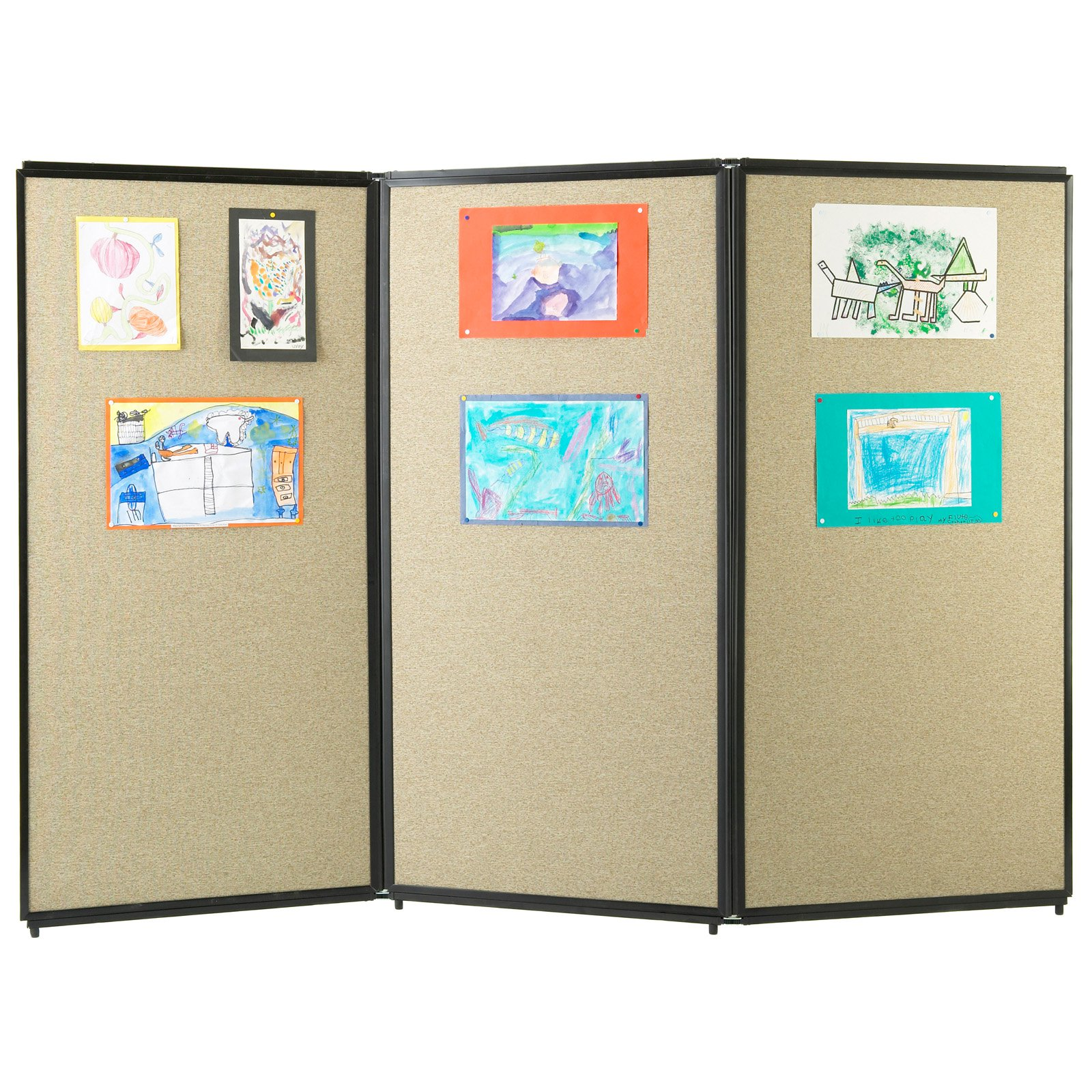 Versare 3-Panel Tackable Room Divider - 7.5W ft.
