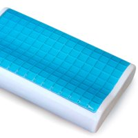 Contour Memory Foam Bed Pillow w/ Cooling Gel - Orthopedic Bed Pillow by PharMeDoc