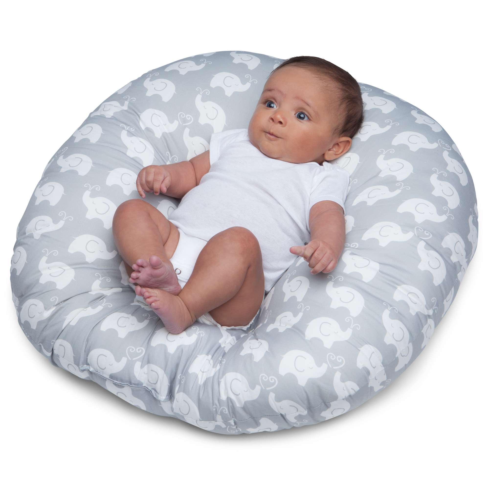 Boppy Newborn Pillow (Elephant Love Gray)