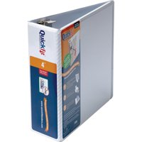 QuickFit, STW87060, D-Ring View Binders, 1 Each, White