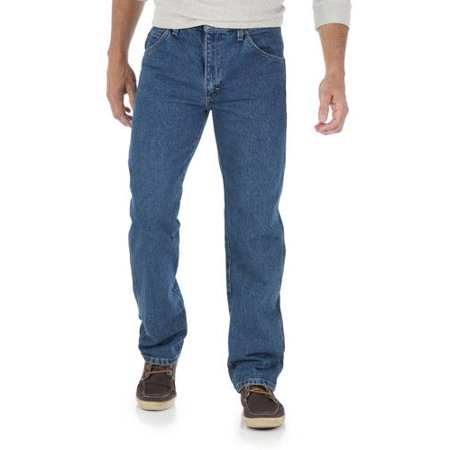 Wrangler Men's 5-Star Regular Fit Jeans - Dark Blue 34x29