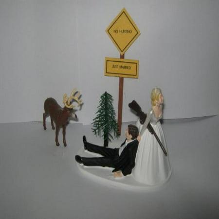Camo Redneck Wedding Deer sign Hunter Hunting Cake Topper (Camo Wedding Cakes)