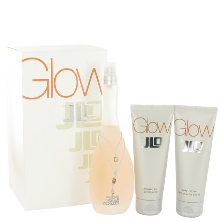 Glow Perfume By Jennifer Lopez Gift Set - 3.4 oz Eau De Toilette Spray + 2.5 oz Body Lotion + 2.5 oz Shower (Jennifer Gel)