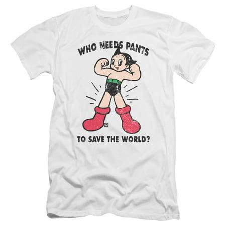 Astro Boy - Who Needs Parts - Premium Slim Fit Short Sleeve Shirt - Medium