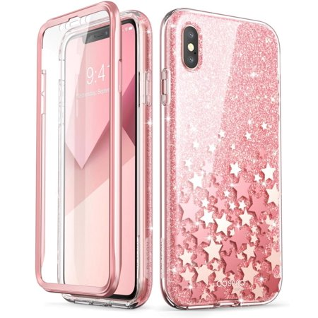 newest 9ea34 8c5b9 iPhone XS Max Case, [Scratch Resistant] i-Blason [Cosmo] Full-body Bling  Glitter Sparkle Clear Bumper Case with Built-in Screen Protector for iPhone  ...