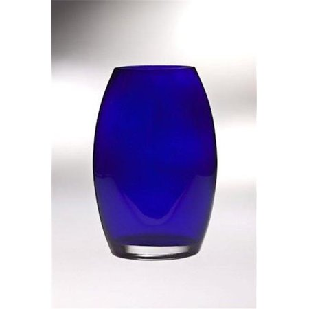Classic clear 8.5 in. High Quality Glass Cobalt Oval