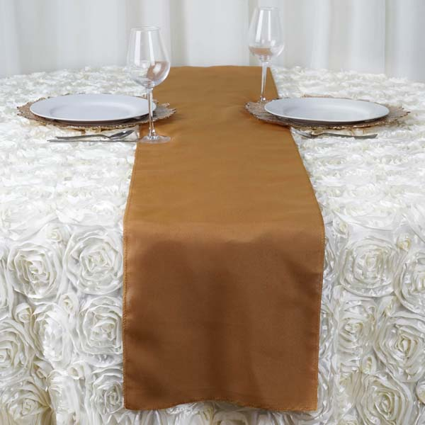 Efavormart Premium Polyester Table Top Runner For Weddings Birthday Party Banquets Decor Fit Rectangle and Round Table