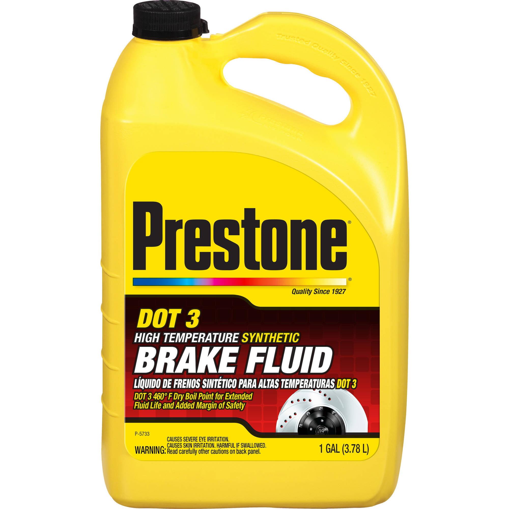 Prestonea Hi Temp Synthetic Dot 3 Brake Fluid 1 Gal Walmart Com Walmart Com