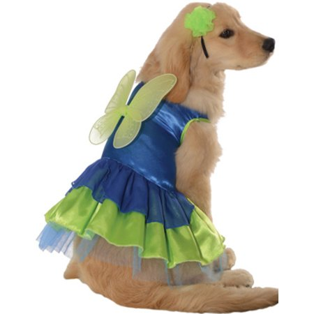 Green Blue Pixie Fairy Puppy Princess Dog Pet Costumes](Football Player Costume For Dogs)