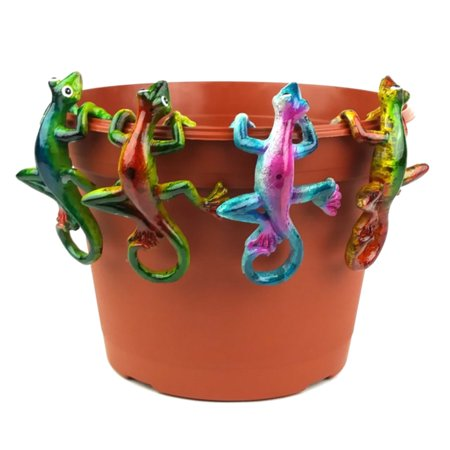Image of 4-Piece Multi Colored Gecko Pot Sitter Hanger