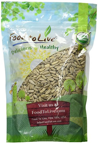 Food To Live ® Organic Sunflower Seeds (Raw, No Shell) (1 Pound)