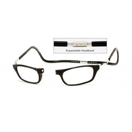 CliC Reader Single Vision XXL Frame, Black, + 1.25