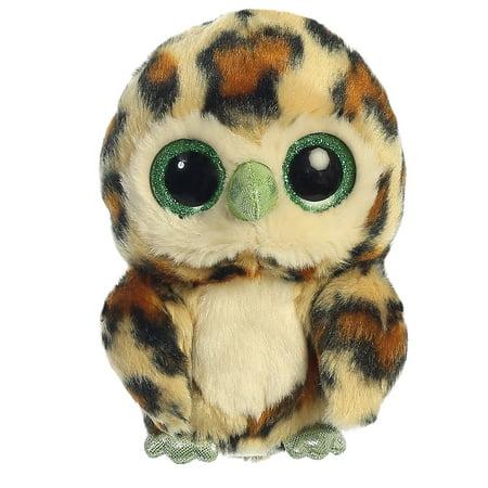 Howie Owl Yellow Yoohoo 5 inch - Stuffed Animal by Aurora Plush (29201) - Howie Feltersnatch