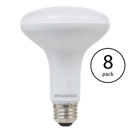 Sylvania BR30 65W Energy Saving Soft White 2700K LED Flood Light Bulb (8 Pack)