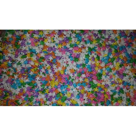 Pastel Stars PHO Free Edible Confetti Sprinkles - 8 oz - Star Sprinkles