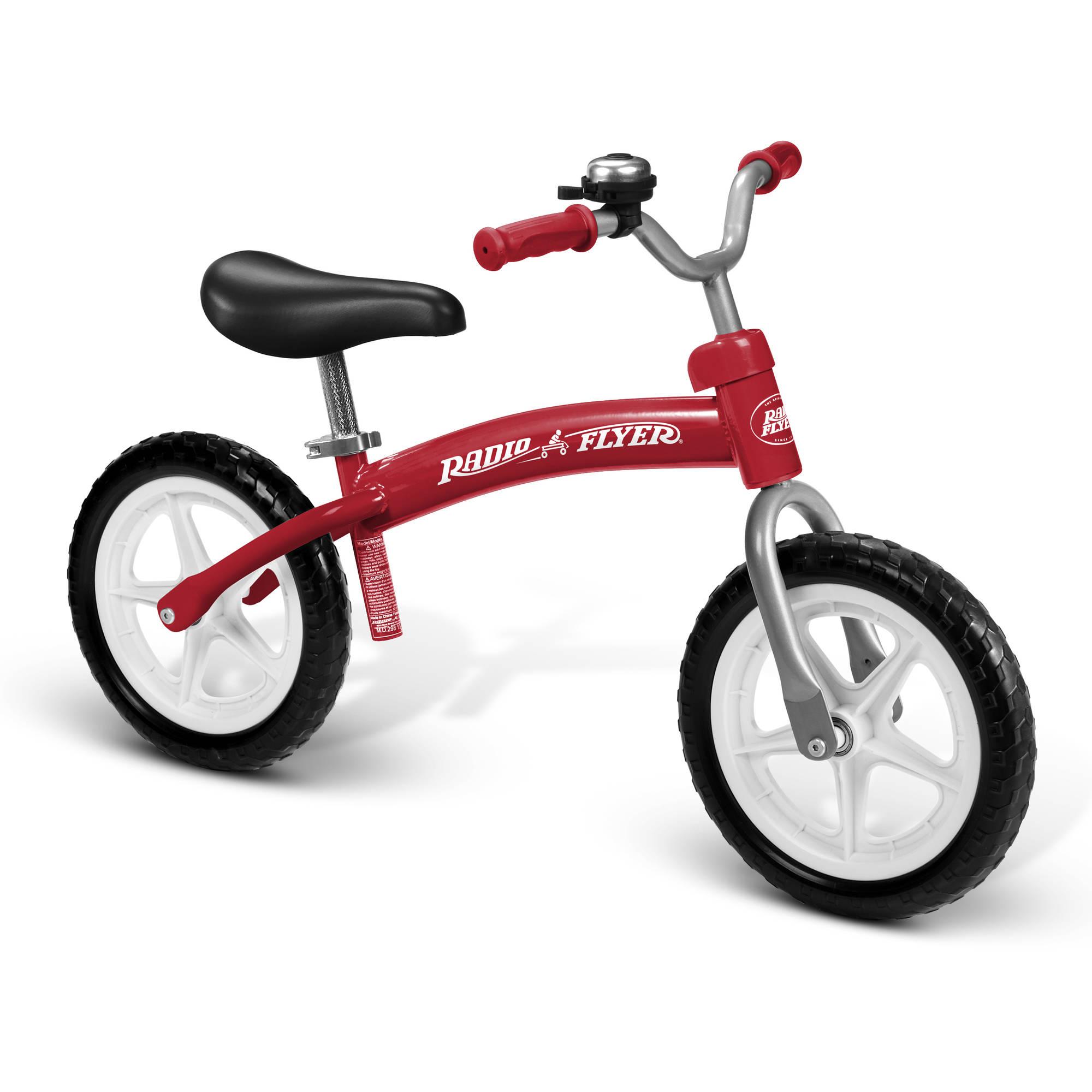 Radio Flyer Glide & Go Balance Bike, Red