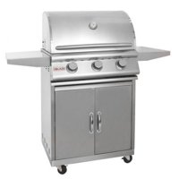 "Blaze 25"" 3-Burner Grill and Cart Package w/3 Comm. SS Burners - LP"