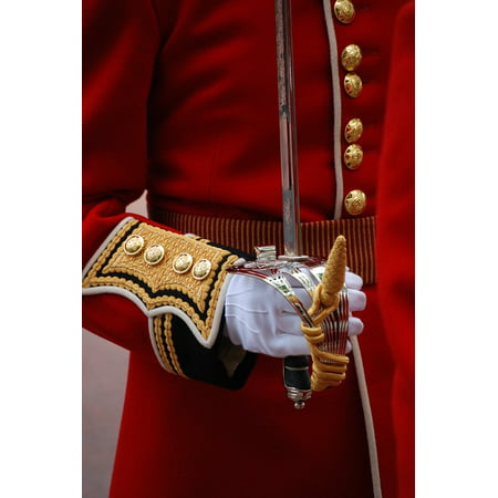 Canvas Print Ceremonial Tradition Uniform Red Glove Sword Arm Stretched Canvas 10 x