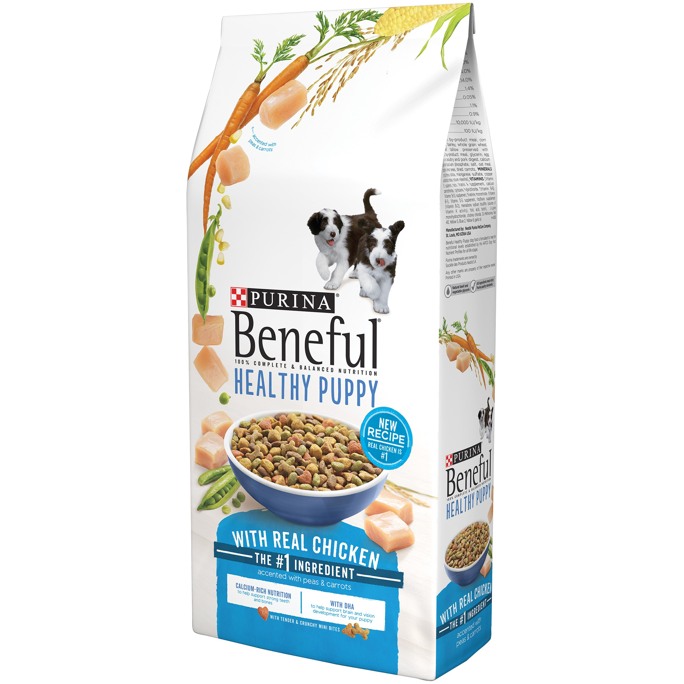 Beneful Healthy Puppy Chicken with Peas & Carrots Puppy Dry Dog Food, 3.5 Lb