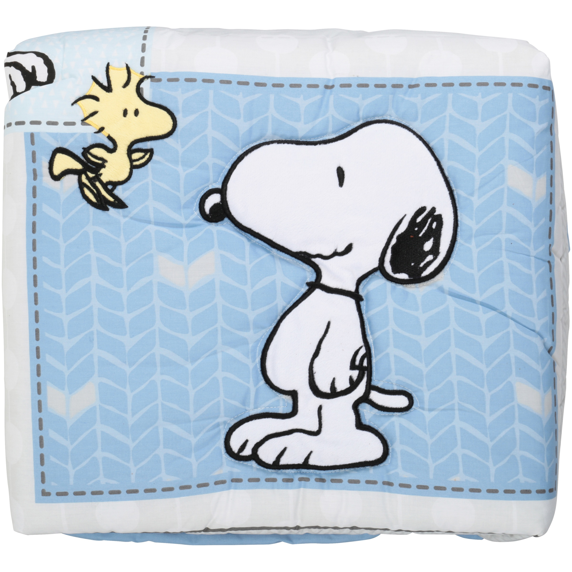 Bedtime Originals Peanuts Forever Snoopy 3-Piece Crib Bedding Set, Blue/Gray