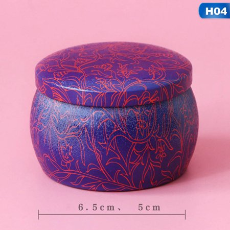 AkoaDa Smell Proof Metal Can Herb Stash Jar Tea Box Candy Sealed Container
