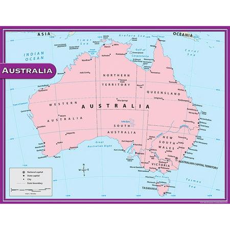 AUSTRALIA MAP CHART 17X22