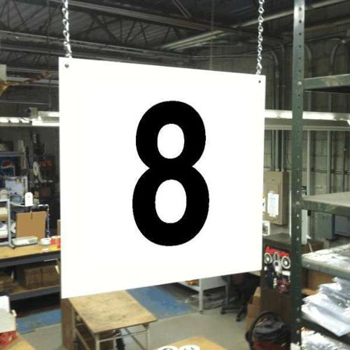 Hanging Aisle Sign, Stranco Inc, HPS-FS1212-8