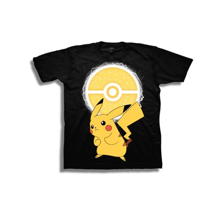 Boys' Pikachu Lightning Pokeball Short Sleeve Graphic T-Shirt