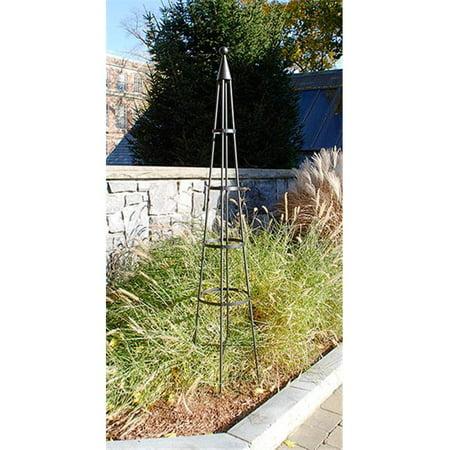 Decor White Wrought Iron Obelisk