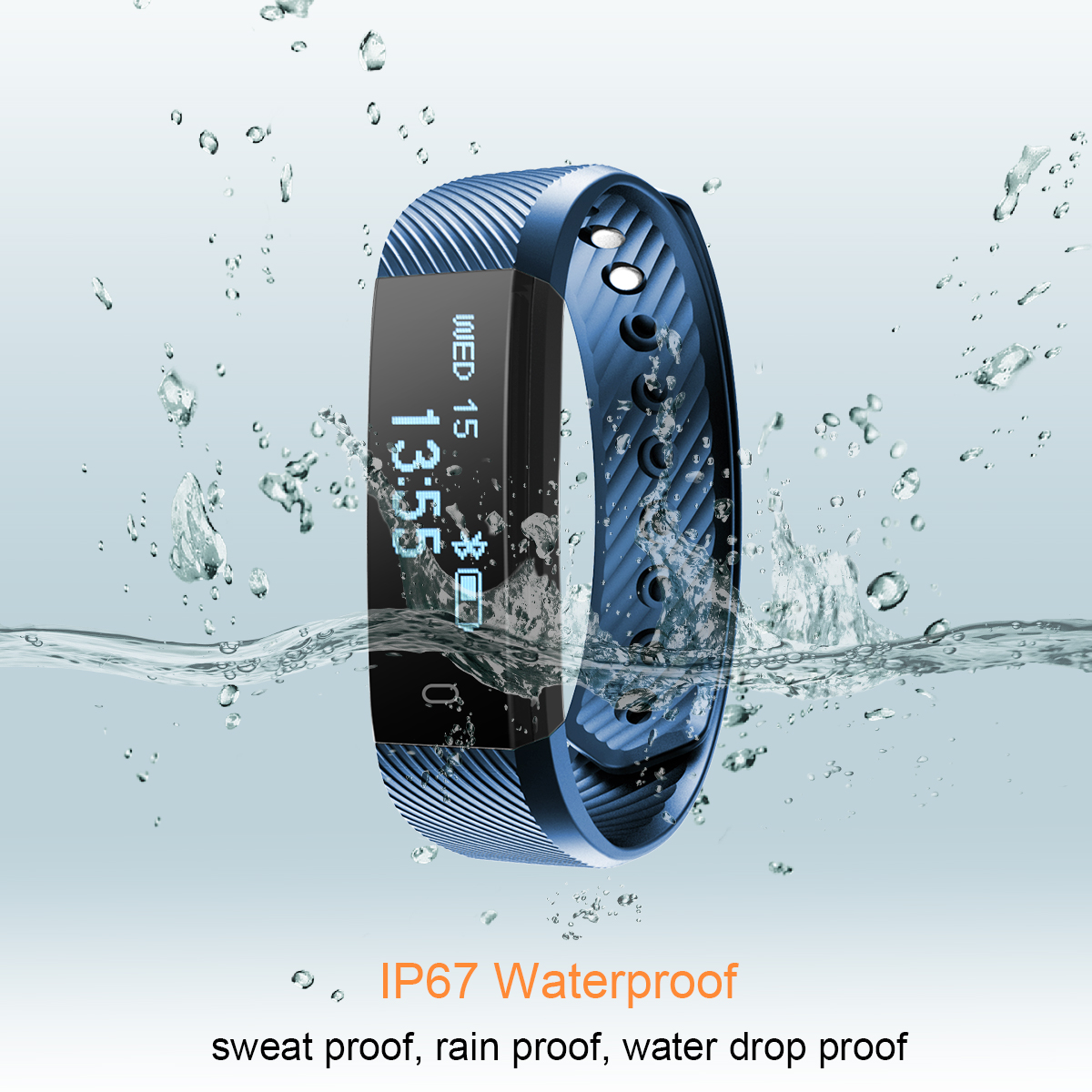 Diggro ID115HR Heart Rate Bracelet Bluetooth 4.0 Pedometer Calorie Sleep Monitor Call/SMS Reminder Sedentary Reminder for Android IOS