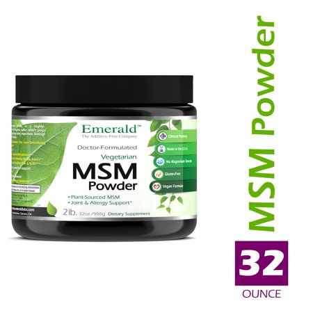 Emerald Laboratories (Ultra Botanicals) - MSM Powder 4,000 mg - Joint Support for Aches & Pains, Anti-Inflammatory, Stress Relief, Supports Digestive System, & Allergy Relief - 32