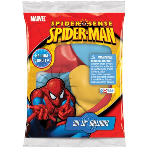 "Set of 6 Marvel Ultimate Spider-Man 12"" Assorted Color Balloons"